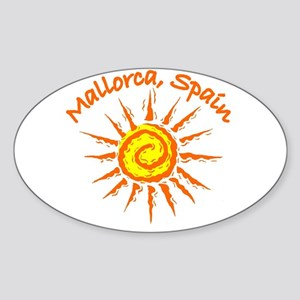 Mallorca, Spain Oval Sticker