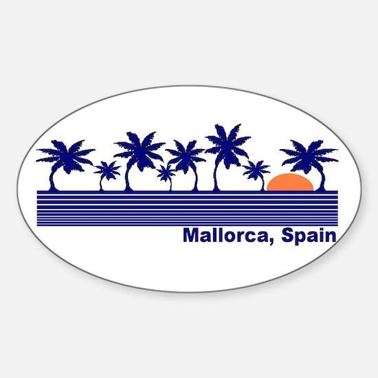 Mallorca, Spain Oval Decal