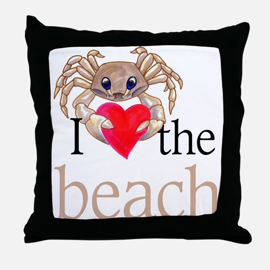 I heart the beach Throw Pillow