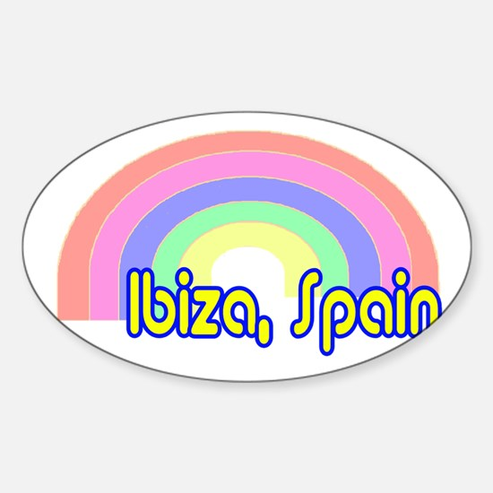 Ibiza, Spain Oval Decal