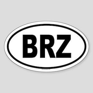 BRZ Oval Sticker