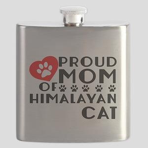 Proud Mom of Himalayan Cat Designs Flask