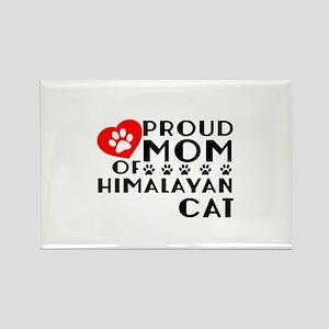 Proud Mom of Himalayan Cat Design Rectangle Magnet