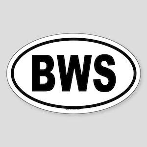 BWS Oval Sticker