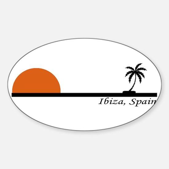 Ibiza, Spain Oval Decal