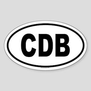 CDB Oval Sticker