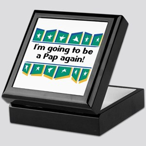 I'm Going to be a Pap Again! Keepsake Box