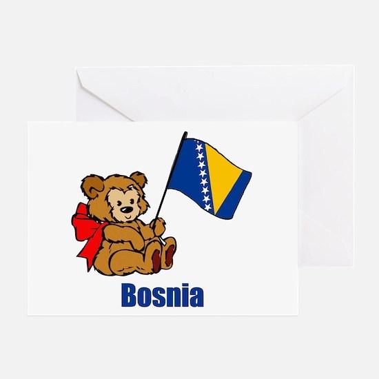 Bosnia Teddy Bear Greeting Card