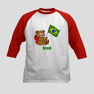 Brazil Teddy Bear Kids Baseball Jersey