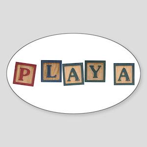Playa Oval Sticker