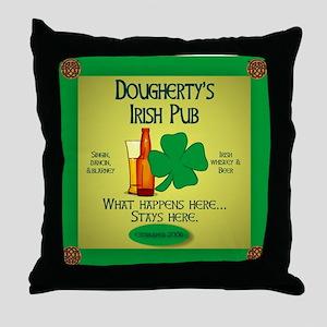 Dougherty's Irish Pub Throw Pillow
