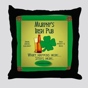 Murphy's Irish Pub Throw Pillow