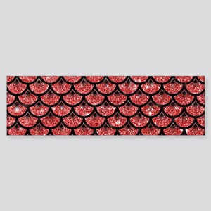 SCALES3 BLACK MARBLE & RED GLITTE Sticker (Bumper)