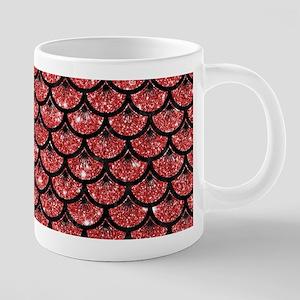 SCALES3 BLACK MARBLE & RED 20 oz Ceramic Mega Mug