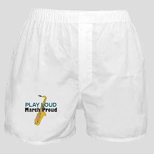 Play Loud March Proud Sax Boxer Shorts