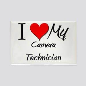 I Heart My Camera Technician Rectangle Magnet