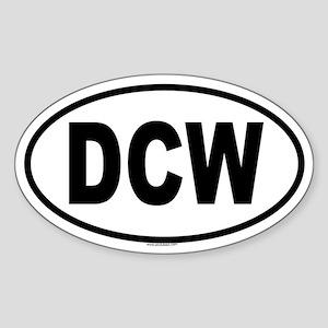 DCW Oval Sticker