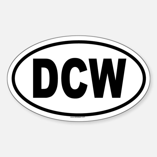 DCW Oval Decal