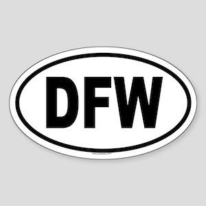 DFW Oval Sticker
