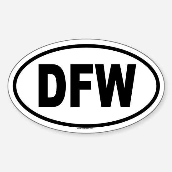 DFW Oval Bumper Stickers