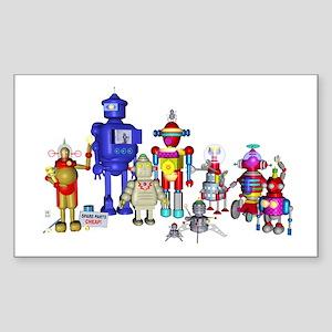 Rectangle Sticker - Robots