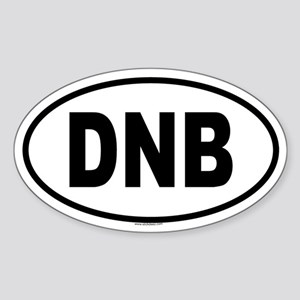 DNB Oval Sticker