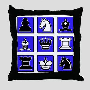 Chess Collage Throw Pillow