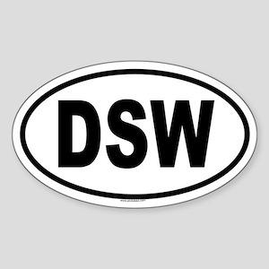 DSW Oval Sticker