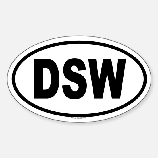 DSW Oval Decal