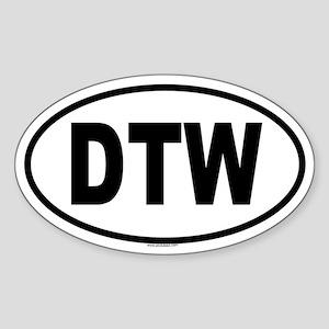 DTW Oval Sticker