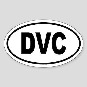 DVC Oval Sticker