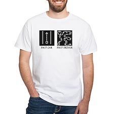 Fast Car Fast Driver White T-Shirt