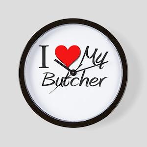 I Heart My Butcher Wall Clock