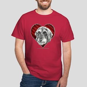 Wire-Haired Dachshund Valentine Dark T-Shirt