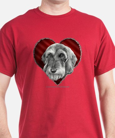 Wire-Haired Dachshund Valentine T-Shirt