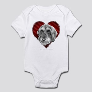 Wire-Haired Dachshund Valentine Infant Bodysuit