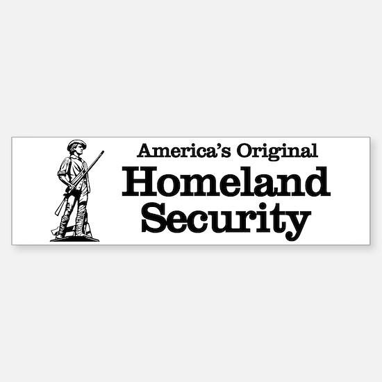 Homeland Security Bumper Bumper Bumper Sticker