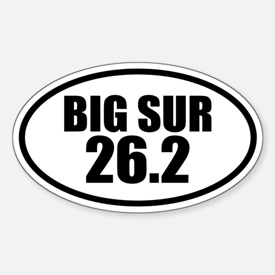 Big Sur Marathon 26.2 Oval Decal