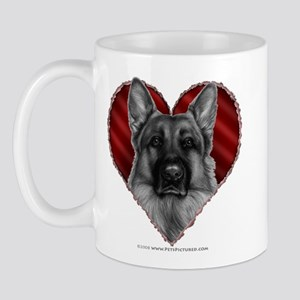 German Shepherd K9 Valentine Mug