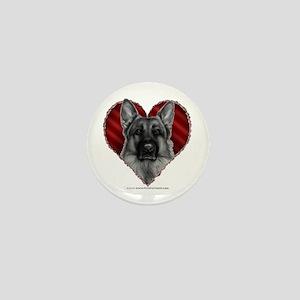 German Shepherd K9 Valentine Mini Button