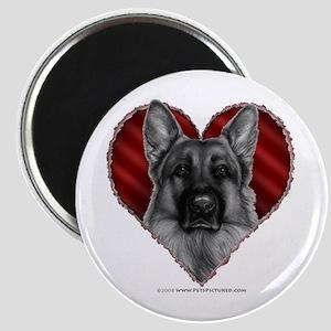 German Shepherd K9 Valentine Magnet