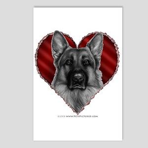 German Shepherd K9 Valentine Postcards (Package of