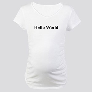 Hello World Maternity T-Shirt