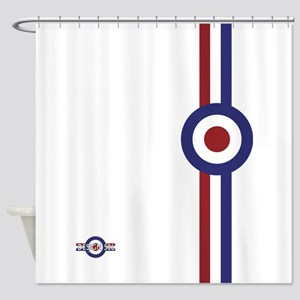 Designer Mod Target Stripes T Shir Shower Curtain