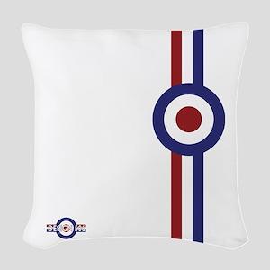 Designer Mod Target stripes t Woven Throw Pillow
