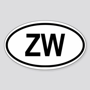 Zimbabwe Oval Sticker