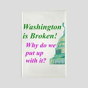 """Washington is Broken"" Rectangle Magnet"