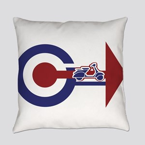 Retro Mod Target and scooter Arrow Everyday Pillow