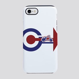 Retro Mod Target and scooter iPhone 8/7 Tough Case