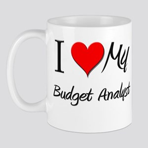 I Heart My Budget Analyst Mug